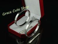 Lover Couple Bracelet For Men & Women Fashion Jewelry 5A Quality Original Gift Box (Card ,Certificat ,Dust Bag ) #CTD04-Silver