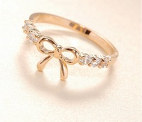 R035 Min.order is $8 (mix order) New! Fashion New! Cute Bow ring! Rings Jewelry wholesales!! Freeshipping!