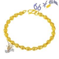 Bead transfer gold 24k bracelet 999 fine gold alluvial gold bracelet irritably paragraph of gold plated bracelet accessories
