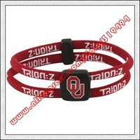 Oklahoma Sooners Double Loop Trion-Z Bracelet - Crimson