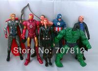 7x Marvel The Avengers action figures Iron man Hulk Thor Captain America Black widow collection Figure 7pcs/set free shipping