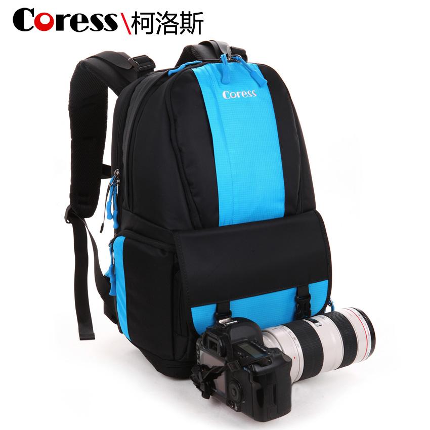 Freeship+ Double-shoulder travel camera bag slr waterproof digital camera bag laptop bag belt two pieces 5% discount!(China (Mainland))