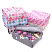 free shipping  wholesale cheap!!! 16 covered underwear box classification of bra underwear storage box