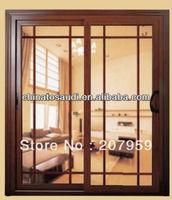 new design aluminium composite wood casement window