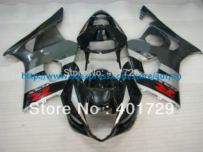 Suzuki GSXR1000 GSXR 1000 Gixxer 2003 2004 Motorcycle Parts,mix color ABS Plastic fairing kit with free wind shield(China (Mainland))