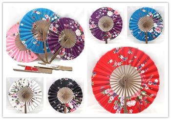 "Wholesale Cheap Chinese Japanese Folding Hand Silk dance Bamboo Fan DIY Hot New art crafts fans Size : 8"" / Free Shiping"