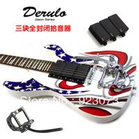 Three pickup Derulo electric guitar hummingbird series big double rock guitar