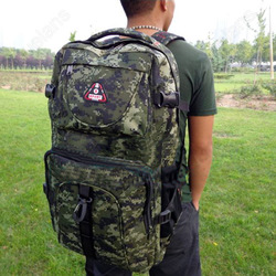 Camouflage Large Outdoor Camping Backpack Fashion Sports Hiking Trekking Rucksack Travel Mountaineer Big Bag for Men Women(China (Mainland))