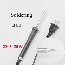 Free Shipping 20W 220V Electric Welding Pencil Tip Soldering Iron Tool Phone Repairing Tool(China (Mainland))