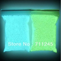 Free shipping!!! 100gram/lot green/blue color Glow at night Fairy tiny rock Dust LUMINOUS sand rice art GLOWS IN DARK