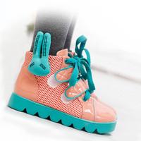 Brand Girls leather platform boots Sport Kids Sneakers children rabbit boots shoes 2014 New