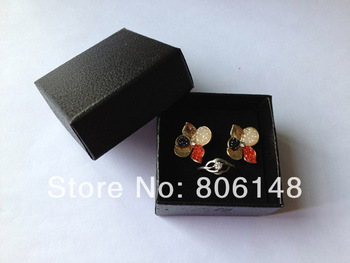 Wholesale 5*5*3 cm 24pcs/lot Hot Sale Small Black Jewelry Ring Gift Box, Free Shipping Newest Paper Jewellery Ring Storage Case