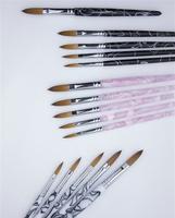 Wholesale+New Design 16#- Pure kolinsky professional wave flower painting acrylic brush