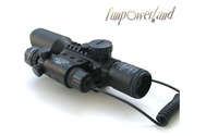 3-10X42+red laser M9B Tactical rifle scope red green Mil-Dot Reticle with side mounted Red laser/Guaranteed 100%