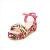 Fashion decorative pattern button sandals  shoes