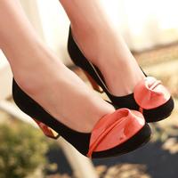 2013 women's  handmade flowers high-heeled  thick heel gentlewomen  elegant  shoes
