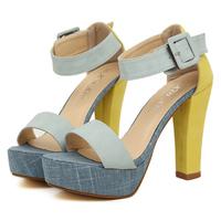 2013 women's  fashion thick heel  single  platform high-heeled  sandals  shoes