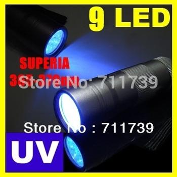 SUPERIA 9LED 365-370nm UV Light LED uv Flashlight (365nm Best inthe world UV light)