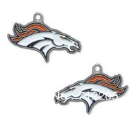 free shipping 10pcs a lot  enamel left and right facing Denver Broncos charms