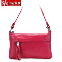 Rustic eclogue women's handbag 2013 handbag one shoulder tassel bag day clutch 100% leather women's genuine leather fashion