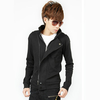 2013 spring sweatshirt male men's clothing personality outerwear male casual male cardigan sweatshirt