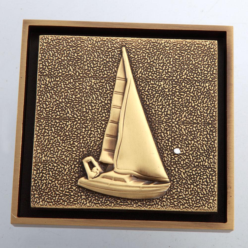 Fashion Antique Brass Finish Sailboat Pattern Floor Drain Waste Drain(China (Mainland))