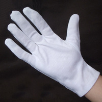 100% cotton gloves liturgy white gloves vigogne gloves cotton jersey work gloves hands protector free shipping G0402