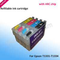 T1331 T1332 T1333 T1334 South America NEW Empty Refillable ink cartridges for EpsonTX320F TX235W TX420W TX430W  with ARC chip
