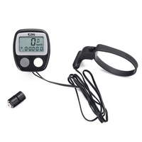 Bicycle Speed O Meter Odometer Bike Computer Cycling LCD Trip meter Timer