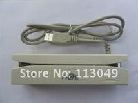 Magnetic card reader/track 1 & 2/usb interface/ keyboard emulation /free shipping