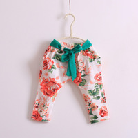 wholesale--5pcs/lot    Free shipping  2013 new  The girls Rose flower green belt pants pants 7     zzs4157
