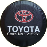 Free shipping Car logo for Toyota car wheel spare tire cover