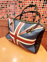 2013 british style flag torx bag fashion bag one shoulder color block women's handbag