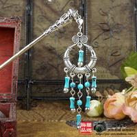 Vintage national trend child miao silver tibetan silver tibetan jewelry hair stick d0049 chromophous