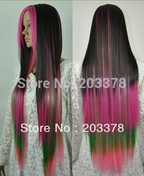2013 New Long straght Multi-colors mixed cosplay hair Wigs10pcs/lot mix order