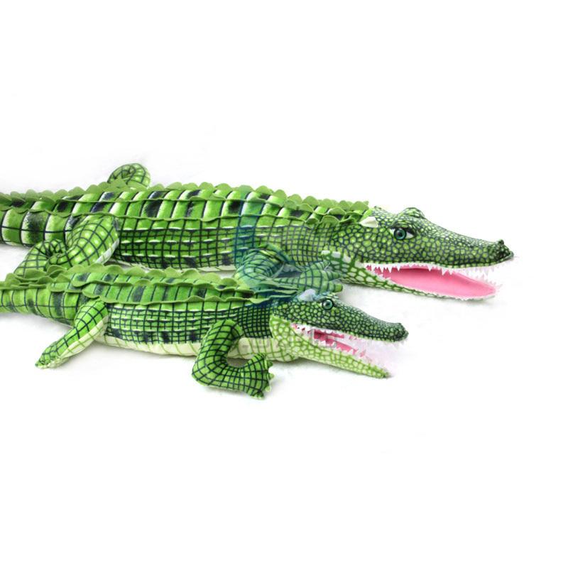 Free Shipping Wholesale Retail105cm Crocodile Plush Stuffed Animal Doll Toy Pillow Cushion Novel Gift children's Toys Present(China (Mainland))