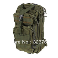 800D Nylon Military Travelling Waterproof Backpack Bag with Detachable Waist Strap - Green
