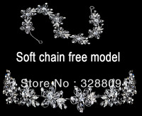 Free shipping-100% real picture soft chain free model hair jewelry white color