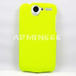 Freeshipping Grass Green Mesh Ultra-Thin Hard Rubber Case Cover Coating For Htc Desire Bravo G7 Case(China (Mainland))