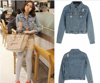 Korean grinding White Street all-match denim jacket outwear coat jeans free shipping 880