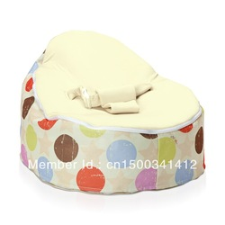 Sandy's Store#No Filler Baby Seat Bean Bag / Comfortable Cot / Baby Bed / Beanbag Chair 60cm x 40cm Baby Bean Bag Chair(China (Mainland))