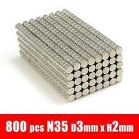 800pcs 3mm x 2mm Disc RARE Earth Neodymium Strong Fridge Magnets N35 D3*2MM  FRE SHIPPING