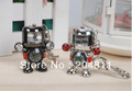 Free shipping MOQ 1pcs,Cartoon alien model USB 2.0 Enough Metal robot usb flash drive clock key chain 4G 8G 16G 32G 64GB with co(China (Mainland))