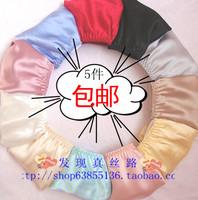 Silk panties female pure silk triangle panties lace panties low-waist  Free shipping