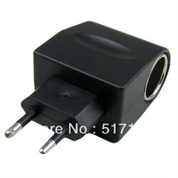 100-240V AC To DC EU Car Cigarette Lighter Socket Power Adapter Converter