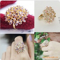 R053 Min.order is $8 (mix order) New Pattern Fashion Quatrefoil ring ! Rings Jewelry wholesales!!  Freeshipping!