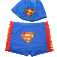 For Child swimwear set male child swim trunks swimming cap boy swimming trunks 1 - 15