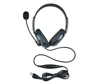 Free Shipping Wired USB Headset for PS3 PC Mac