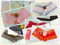 women cotton lace many color size sexy underwear/ladies panties/lingerie/bikini underwear pants/ thong/g-string DZ025-60pcs