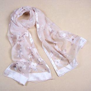 Silk autumn and winter scarf classic silk jacquard fresh and elegant silk
